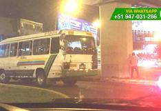 Surco: chofer de coaster obstruyó tránsito para orinar