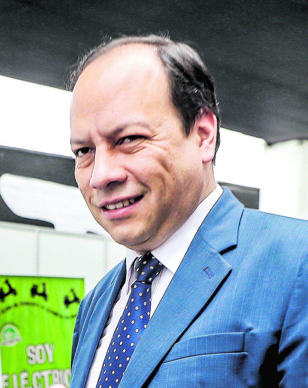 Raúl García Carpio, exviceministro de Energía.