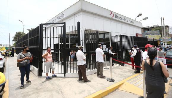 Recuerde que no es necesario acercarse al Banco de la Nación. Evitemos las aglomeraciones. (Foto: Jesus Saucedo | GEC)