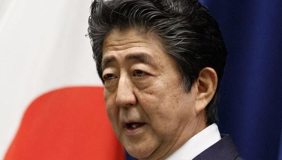 El primer ministro de Japón Shinzo Abe en una imagen del 18 de junio del 2020. (Foto: Rodrigo REYES MARIN / POOL / AFP).