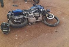Ica: un policía murió y otro quedó herido tras violento choque de motocicletas