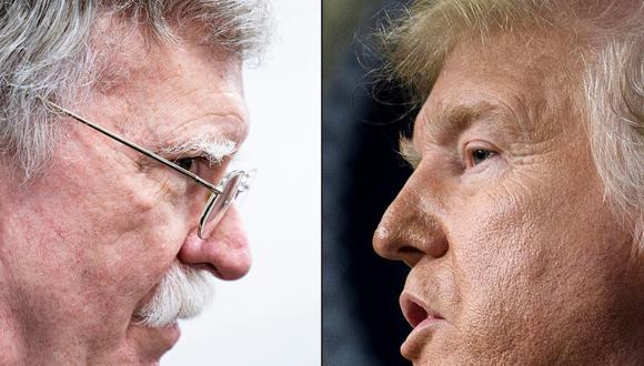 """Donald Trump dice que John Bolton pagará un """"alto precio"""" por la publicación de sus memorias. (Foto: Brendan Smialowski / AFP)."""