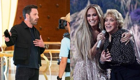 Ben Affleck protagonizó un divertido comercial con la mamá de Jennifer Lopez en un casino. (Foto: @benaffleck @jlo Instagram / Composición)