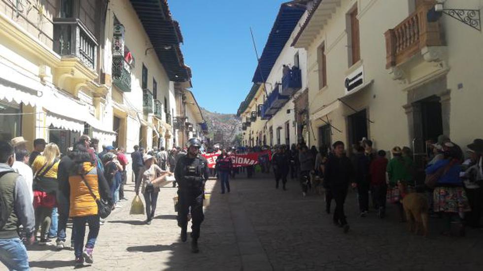 Cusco: maestros iniciaron paro de 48 horas con marcha - 1