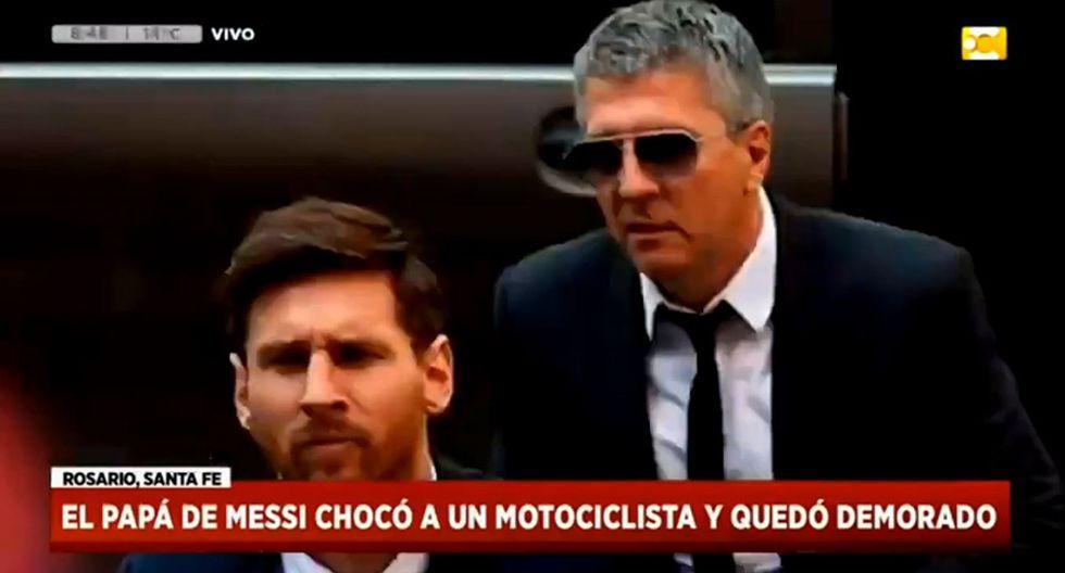 Padre de Lionel Messi estuvo en una comisario, detenido por atropellara a un motociclista. (Video: Canal de la Ciudad)