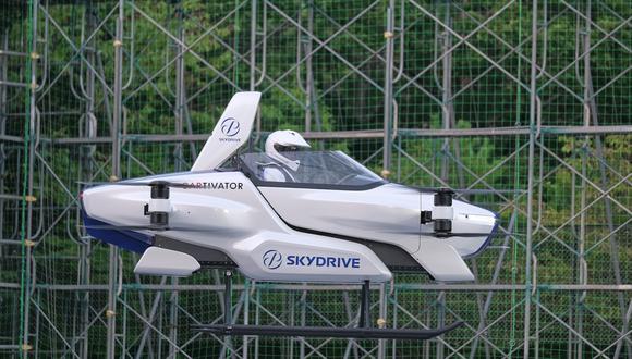 Este es SD-03, el auto volador de la firma japonesa SkyDrive, fundada por ex ingenieros de Toyota. (Difusión)