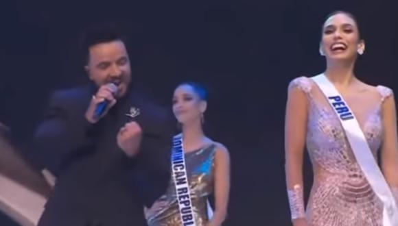 """Luis Fonsi participó en el Miss Universo 2021 con el tema """"Vacío""""; show en el que compartió el escenario con la peruana Janick Maceta; que se convertiría en la segunda finalista. (Foto: TNT)"""