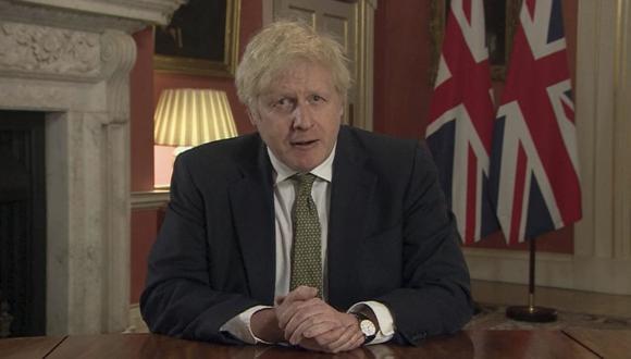 Boris Johnson ordena confinamiento total en Inglaterra por nueva variante más contagiosa del coronavirus COVID-19. (Pool via AP).