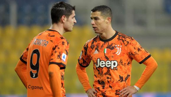 Cristiano Ronaldo y Álvaro Morata forman la dupla goleadora de Juventus | Foto: Reuters