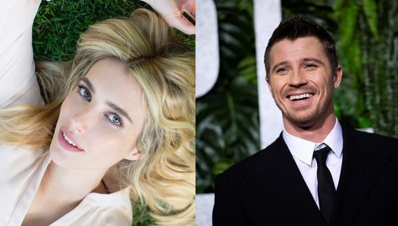 """A la izquierda, Emma Roberts en una de las múltiples fotos que sube a su cuenta de Instagram. A la derecha, Garrett Hedlund en la premiere de la película """"Triple frontera de Netflix"""" en 2019. Ambos se convirtieron en padres a fines del 2020. Fotos: @emmaroberts en Instagram/ Johannes Eisele para AFP."""