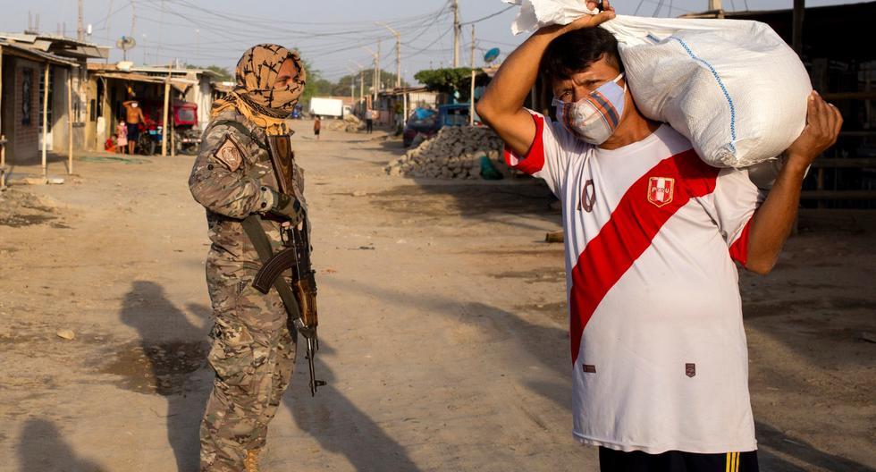 En Castilla, el distrito más grande de Piura, se han entregado mas de 6 mil canastas con los 500 mil soles que transfirió el Gobierno. (Foto: AFP/Sebastián Enriquez)