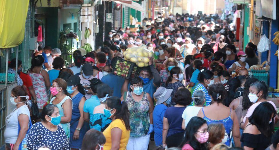 Así lució el mercado San Antonio, de San Martín de Porres, esta mañana. (Foto: Lino Chipana/GEC)