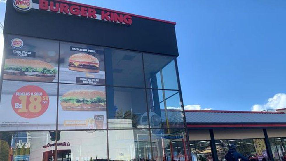 A diferencia de McDonald`s, Burger King sí sobrevivió a los años de la recesión en Bolivia.