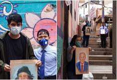 El muralista que inmortaliza los rostros de sus vecinos fallecidos por COVID-19