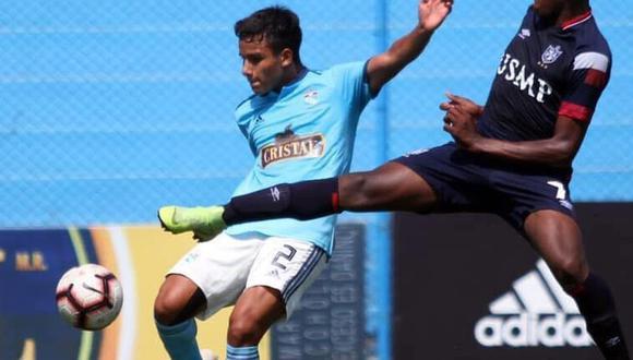 Jhilmar Lora, joven elemento de Sporting Cristal que cumplió una destacada actuación en el partido que ganó 1-0 a Sport Boys | Foto: Cortesía Liga 1