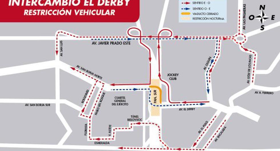 Municipalidad de Lima anunció desvíos en Av. El Derby por obras - 1