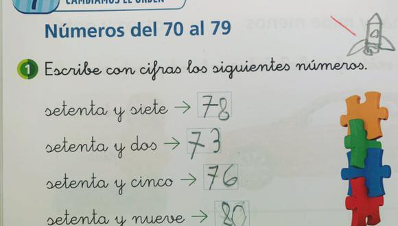 Las respuestas de una niña en un ejercicio matemático han llamado fuertemente la atención en Internet. (Foto: @Javi_Matron / Twitter)