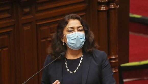 Violeta Bermúdez lamentó que la Comisión de Economía haya cancelado su sesión por falta de quórum. (Foto: PCM)