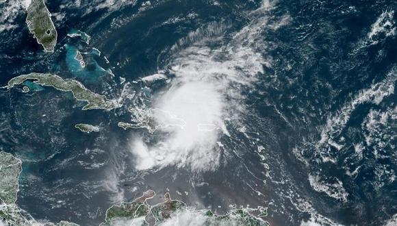 Así se ve una tormenta tropical desde el espacio. (EFE).