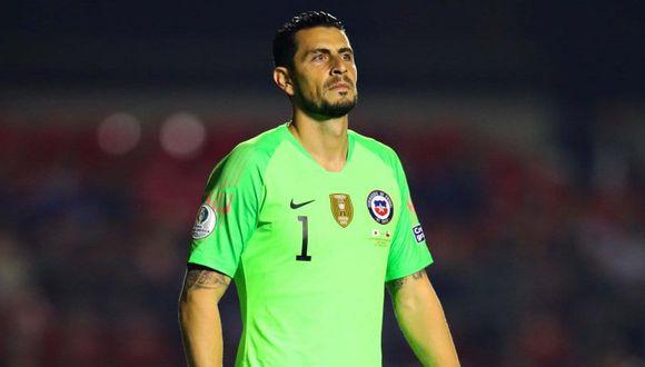 Gabriel Arias, el portero indiscutible de Chile en la Copa América. (Foto: EFE)