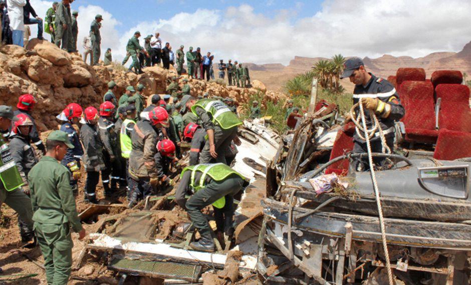 La tragedia ocurrió en la región de Errachidia, al sureste de Marruecos. (Foto: AFP)