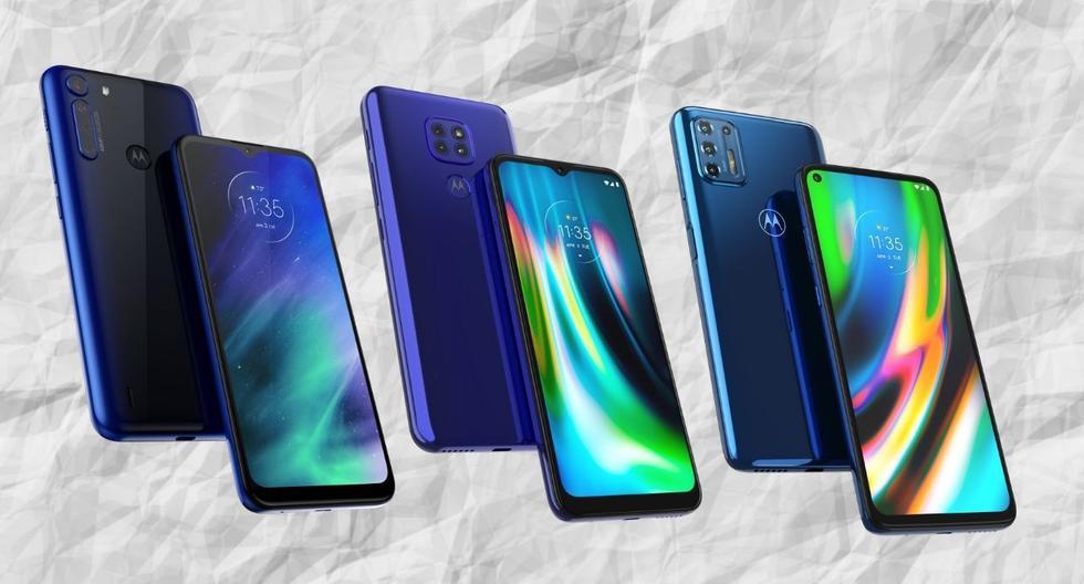 El Motorola One Fusion, el Moto G9 Play y el Moto G9 Plus son los tres nuevos smartphones de Motorola que están disponibles ya en el mercado peruano. (El Comercio)