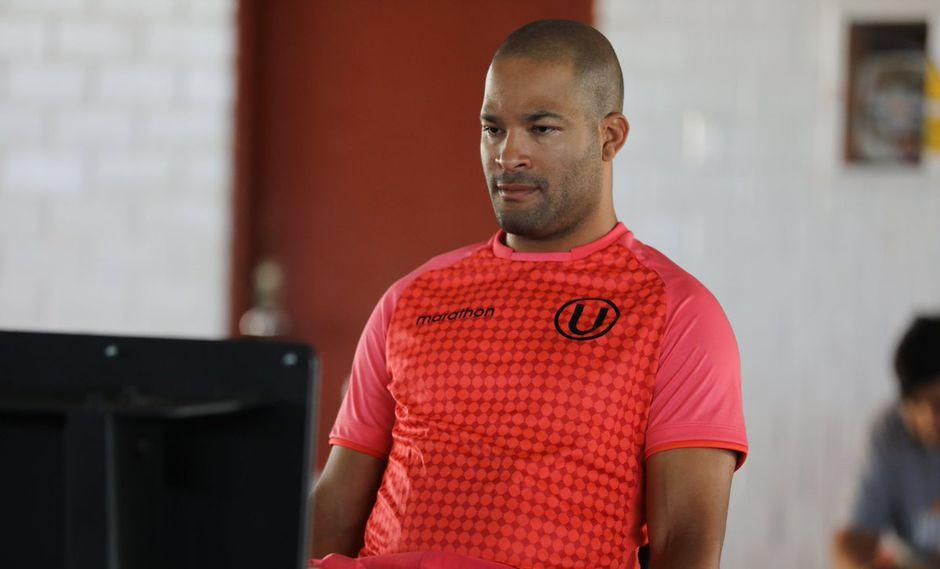 Alberto Rodríguez trabajando en el gimnasio del club. (Foto: @Universitario)
