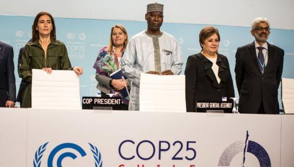 Con dos días de retraso finalizó la COP25 presidida por la ministra chilena Carolina Schmidt (primera a la izquierda). (Getty Images).