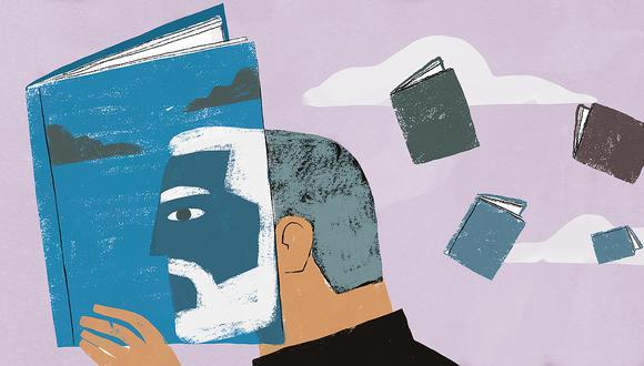 """""""Cada uno tendrá sus libros (o fantasías) que reflejan la postura que tuvo frente a la realidad de este terrible año"""". (Ilustración: Víctor Aguilar Rúa)."""