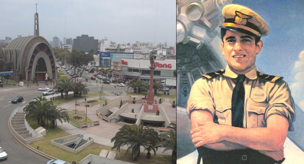 Monumento en homenaje al héroe peruano fue realizado por el escultor Miguel Baca Rossi en la década de los 70s. (Foto: El Comercio / FAP)