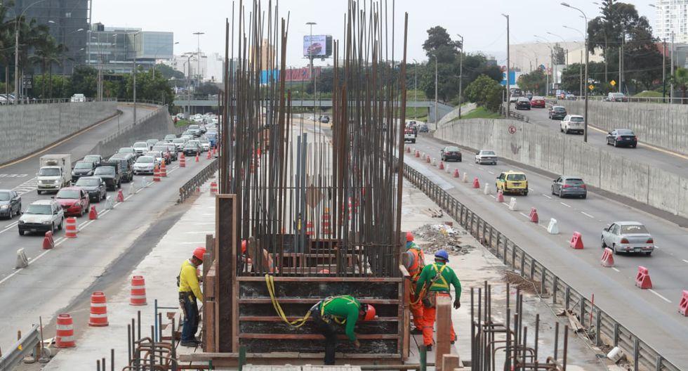 La vía se reducirá a dos carriles, en ambos sentidos, por la construcción de la nueva estación del Metropolitano en San Isidro. Trabajos tomarán 45 días. (Foto: Lino Chipana)