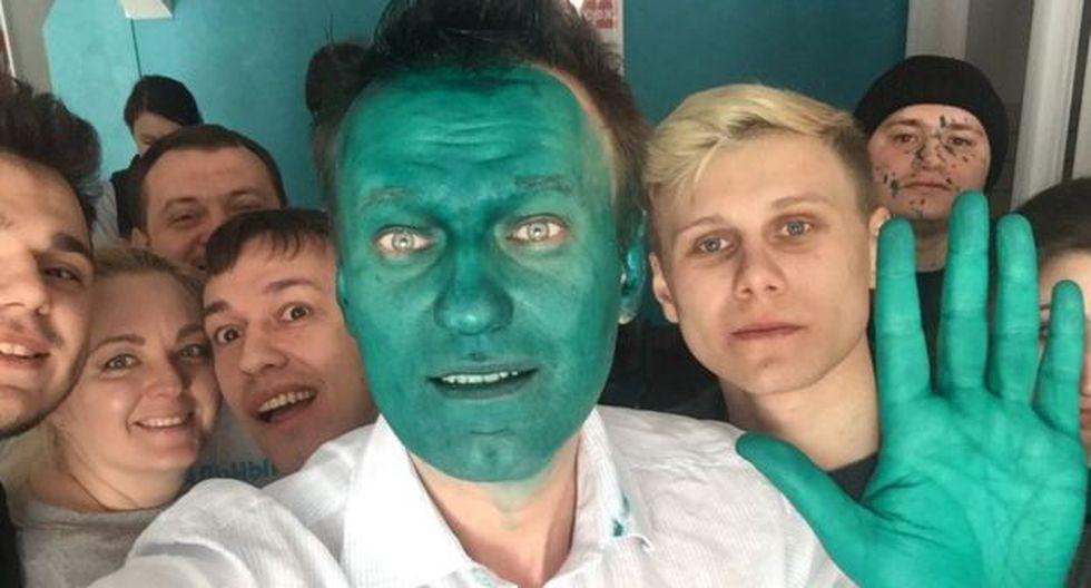 El líquido verde con el que atacan a opositores en Rusia [BBC]