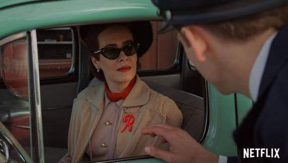 Mildred Ratched (Sarah Paulson), tal y como aparece en el tráiler de la serie. (Foto: Captura de YouTube).
