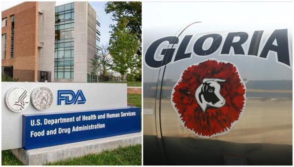 El FDA ha advertido sobre los productos de Gloria, específicamente sobre leche condensada, leche normal, leche bajo en grasa, leche de oveja, leche rellena y leche de imitación.
