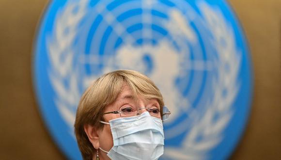 La Alta Comisionada de las Naciones Unidas para los Derechos Humanos, Michelle Bachelet. (Foto de Fabrice COFFRINI / AFP).