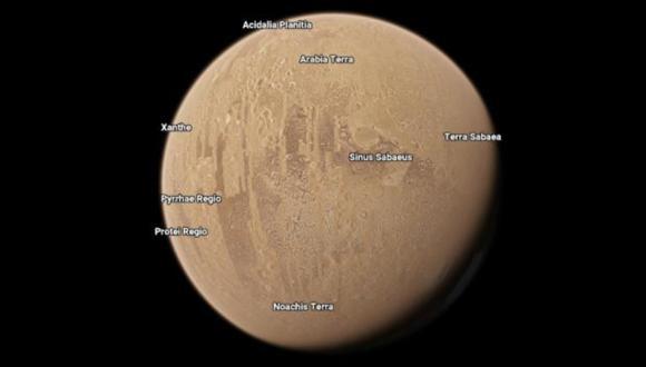 ¿Quieres visitar Marte sin salir de casa y desde tu smartphone? Google Maps te permite visitar los planetas.