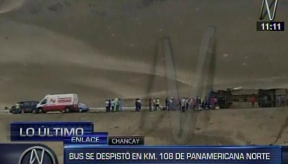 Al menos 18 heridos deja accidente de bus en Panamericana Norte