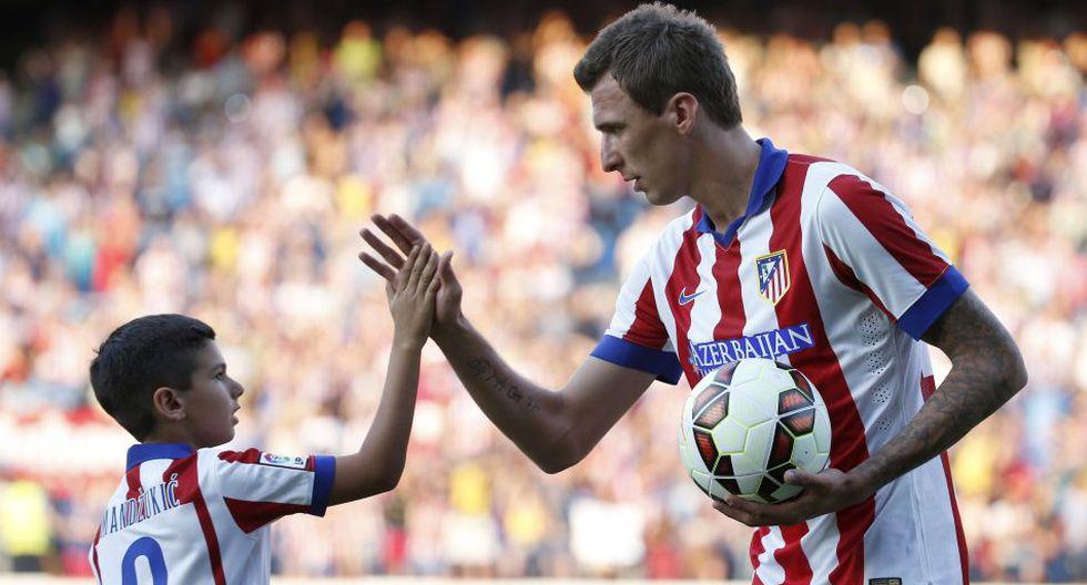 Mandzukic presentado con el '9' de Villa en Atlético de Madrid - 2