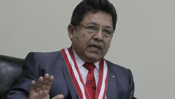 El fiscal de la Nación, Carlos Ramos Heredia, aseguró que hay intereses que quieren sacarlo del cargo. (Foto: El Comercio).