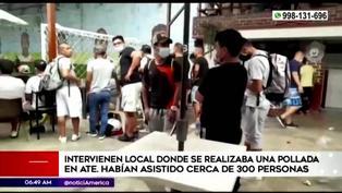 Ate Vitarte: intervienen a más de 300 personas en pollada bailable