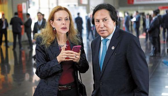 Eliane Karp y Alejandro Toledo tienen una orden de detención por el Caso Ecoteva. Además, el ex mandatario es requerido por la justicia por el Caso Odebrecht. (Foto: Alonso Chero/El Comercio)