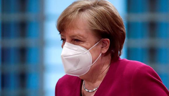 La canciller de Alemania Angela Merkel. (Foto: HANNIBAL HANSCHKE / POOL / AFP).