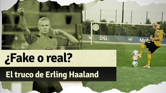 Erling Haaland's challenge with the ball that has gone viral