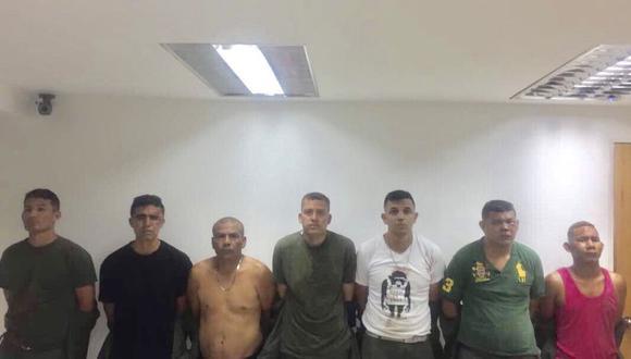 Siete de los ocho detenidos en el levantamiento militar en la ciudad de Valencia.