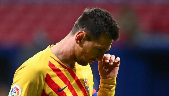 Messi podría dejar el Barcelona el próximo año. (Foto: AFP)