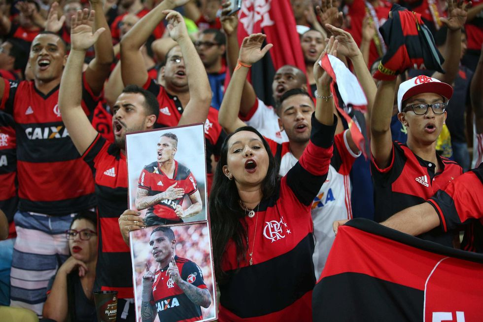 Paolo Guerrero presente en el Maracaná. (Foto: AFP)