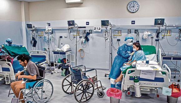 La pandemia del COVID-19 puso de manifiesto las deficiencias estructurales del país en materia sanitaria. / AFP / Ernesto BENAVIDES