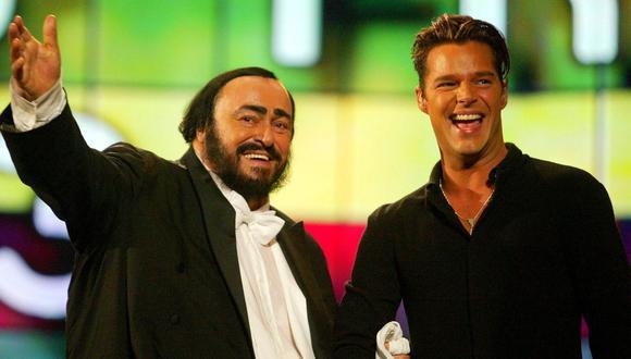 Luciano Pavarotti junto a Ricky Martin. (Foto: Reuters)