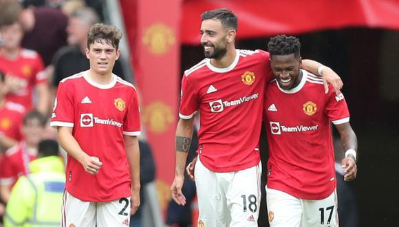 Manchester United debutó a lo grande en la Premier League con una clara victoria por 5-1 ante el Leeds | Foto: @ManUtd_Es