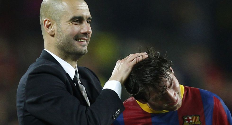 Guardiola y Messi celebrando el pase a la final de la Champions League. (Foto: Reuters)